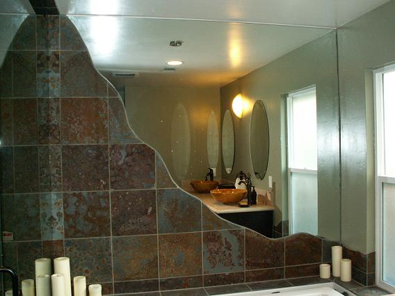Custom Wall Mirrors bathroom wall mirrors cut to size. 38 inline glass shower door and